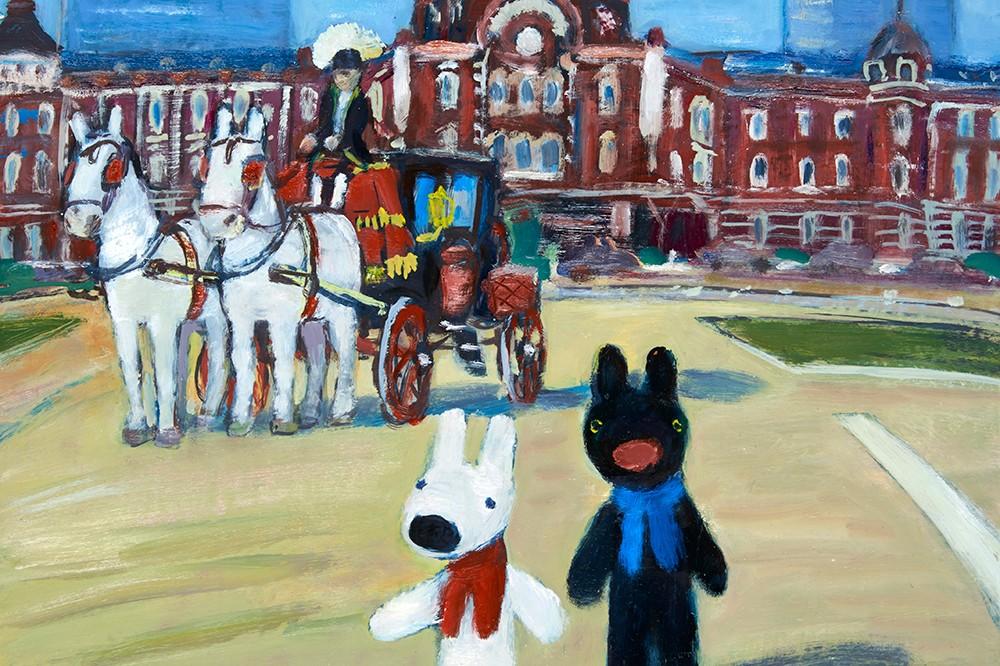 油絵ならではのタッチを間近で見よう!リサとガスパールの原画展が開催