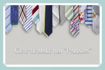 彼を紳士的なパリジャンにする、遊び心溢れるgiraffeのネクタイ