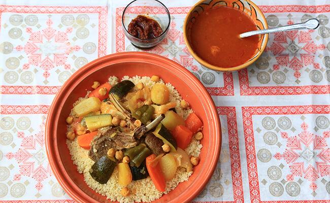 ラム肉と野菜のクスクス