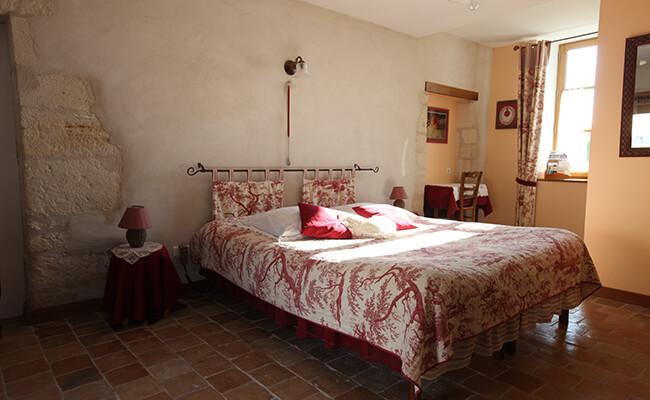 Chambre d' hôte(シャンブル・ドット)のベッドルーム