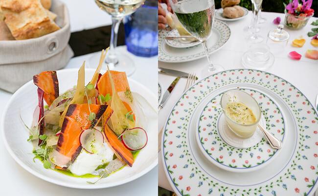 フランス料理の付け合せに使われるスプラウト