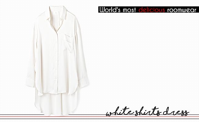 ジェラートピケ×ジョエル・ロブション ホワイトシャツドレス
