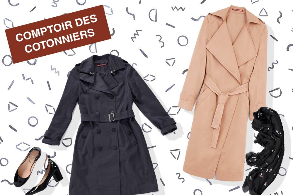 パリジェンヌのitブランド!コトニエで作る秋のトレンチスタイル
