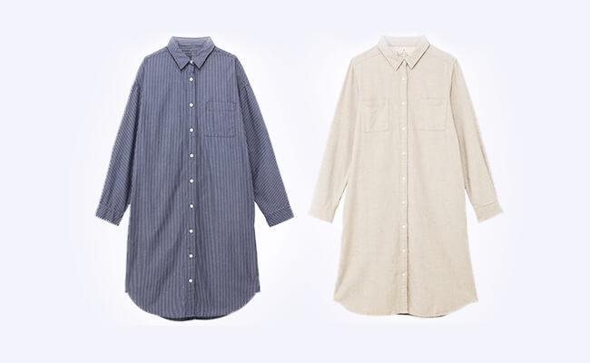 無印良品のシャツワンピース