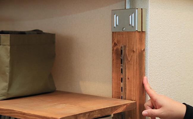 ピラーブラケットで作った棚