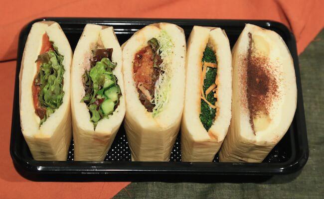 渋谷『ドレスのテイクアウト店』のサンドイッチ