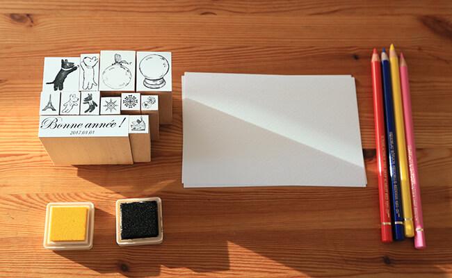 ゴービースタンプで作るクリスマスカード 道具