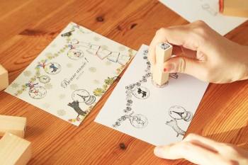 年賀状もクリスマスカードも!スタンプで作る年末年始のグリーティングカード