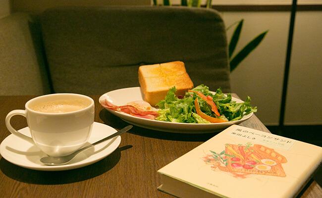 上島珈琲の「ベーコンエッグ&厚切りバタートースト」