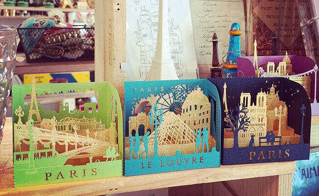 西荻窪のフランス雑貨店「Boite(ぼわっと)」でも取り扱っているレーザー文房具
