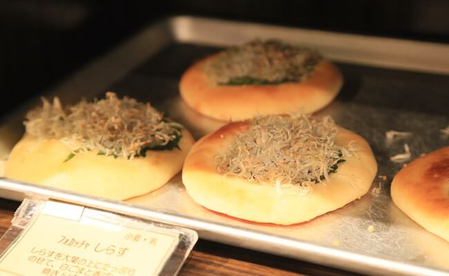 オリミネベーカーズの、魚介を使ったパン