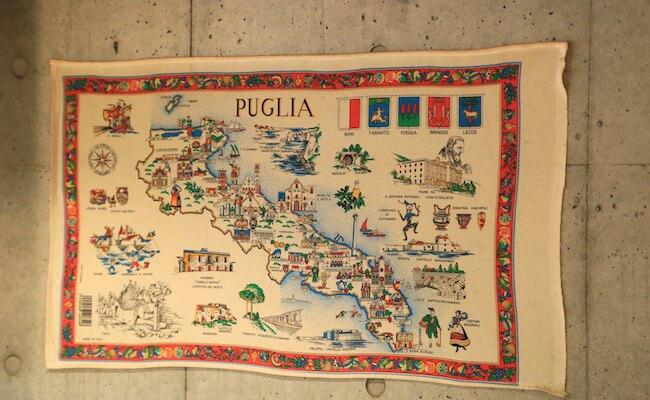 プーリアの地図