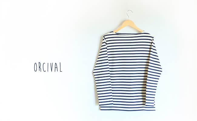 ORCIVAL/B211 (ECRU×MARINE)