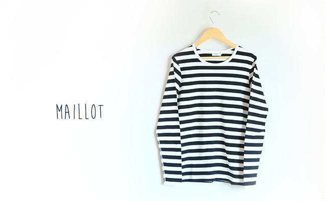 maillot/border long sleeve T-shirt MAC-001(ブラック)