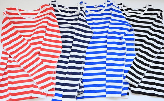 maillot/border long sleeve T-shirt MAC-001(レッド、ネイビー、ロイヤル、ブラック)