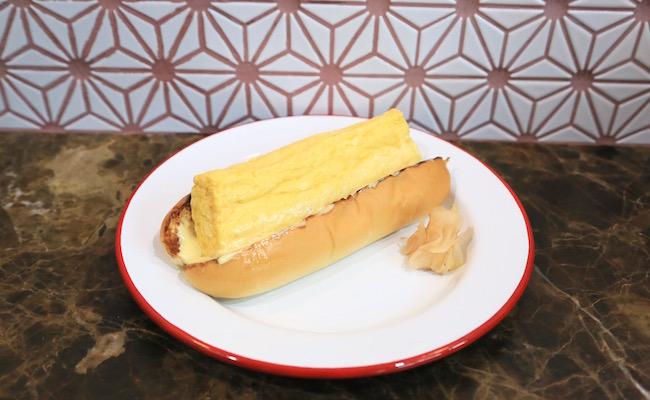 deli fu ciousの出汁巻き卵ドッグ