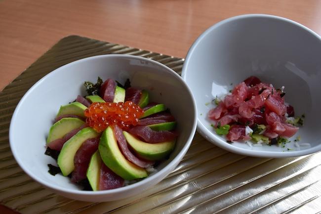 和食のメニュー『アボカドマグロ丼』