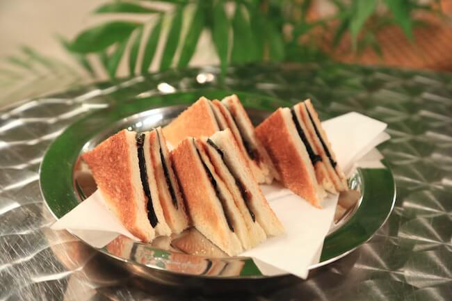 「カフェ ド ロペ銀座」の「エースののりトースト」