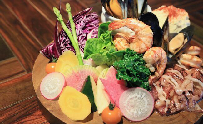 魚介とお野菜たっぷりの「ウフ・フ」