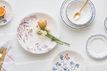 花柄とライン使いがかわいい!フランスの陶器ブランド「GIEN(ジアン)」のお皿