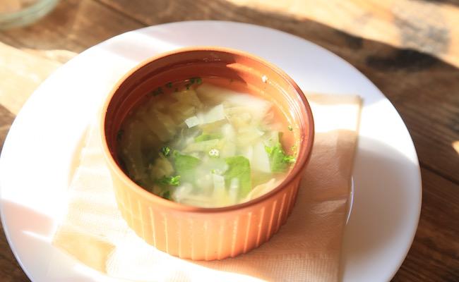 中目黒『La vie a la campagne(ラ・ヴィア・ラ・カンパーニュ)』のランチとセットのスープ