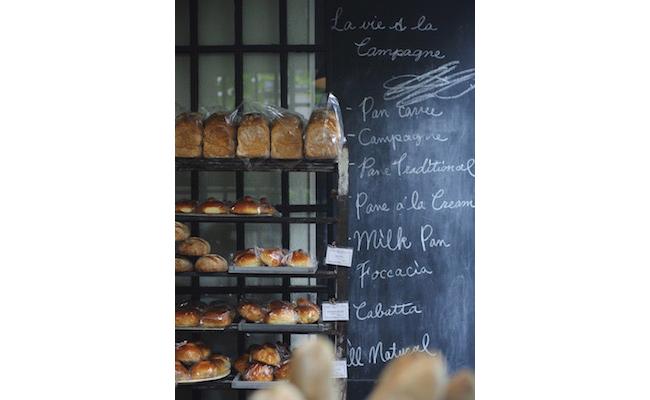 中目黒『La vie a la campagne(ラ・ヴィア・ラ・カンパーニュ)』の1階のパン販売スペース