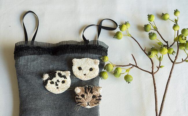 刺繍キット/gris/ネコキット