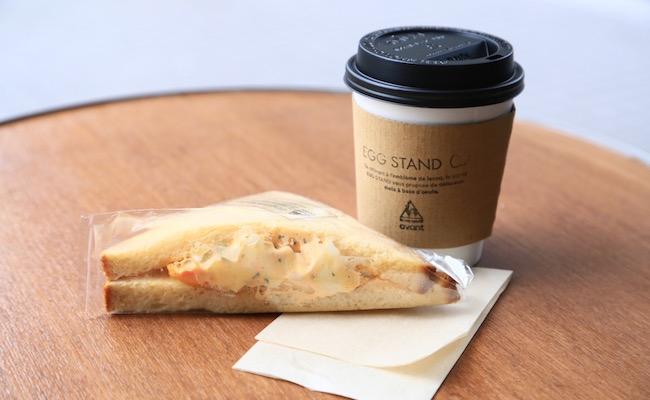 『EGG STAND』のエッグサンドイッチ