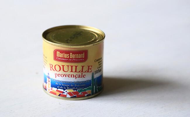 ブイヤベースに欠かせないルイユの缶詰