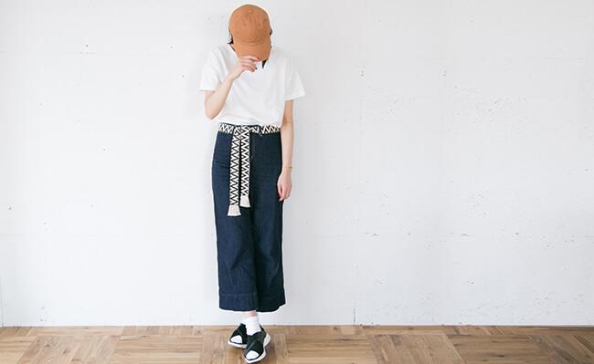 無印良品/オーガニックコットンボートネック半袖ワイドTシャツ
