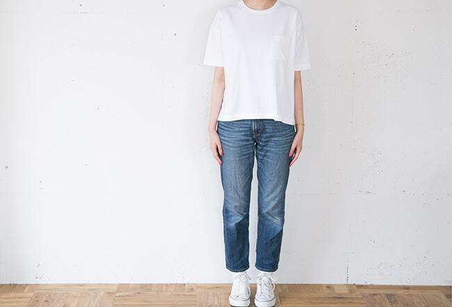 無印良品/オーガニックコットンワイドTシャツ(無地&ボーダー)