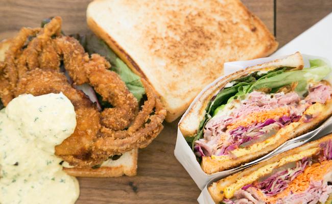 『トーストサンドイッチバンブー』のサンドイッチ