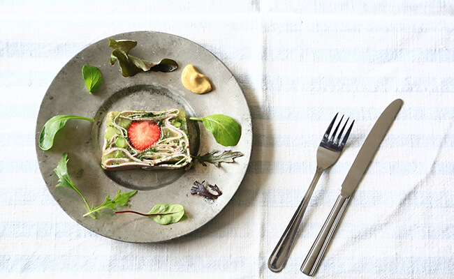 ハムとパセリといちごのテリーヌのレシピ