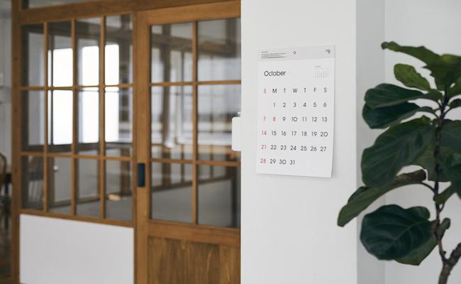 D-BROS/2018タイプフェイス壁掛けカレンダー