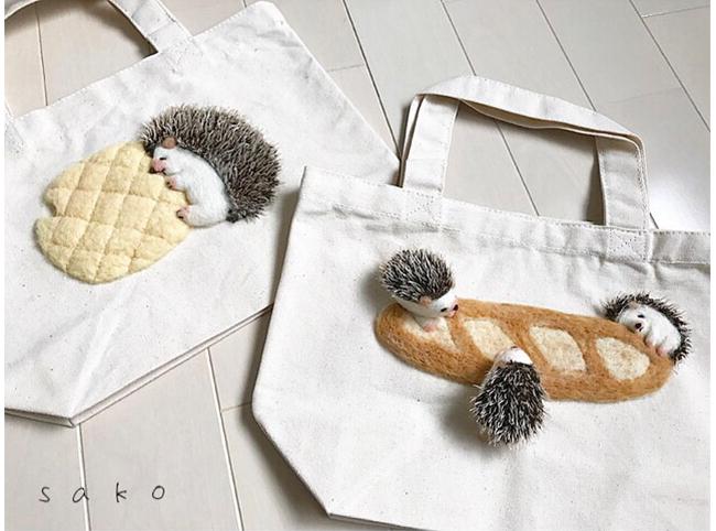 s a k oさんの「パンが大好きな動物さんたち」のトートバッグ