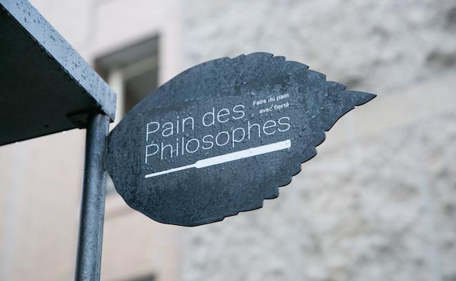 『Pain des Philosophes(パン デ フィロゾフ)』の看板