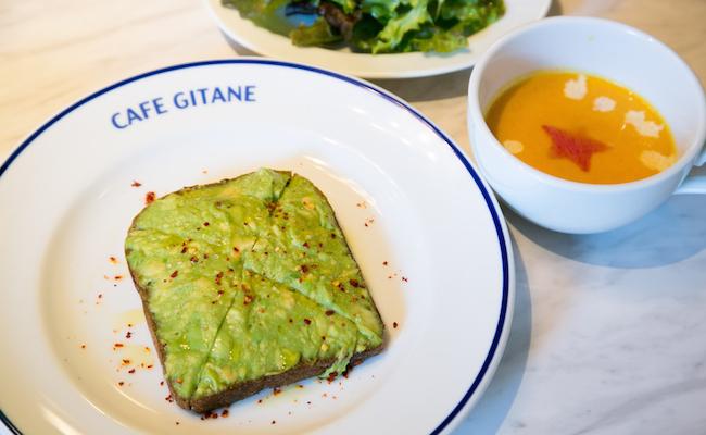 恵比寿『CAFÉ GITANE(カフェ ジタン)』のアボカドトースト
