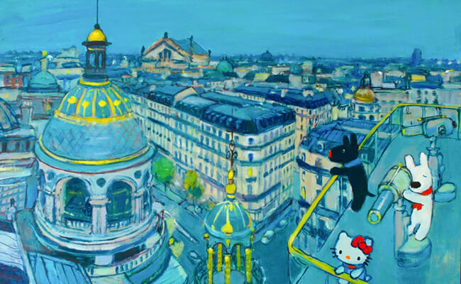 リサとガスパールとハローキティがパリ散歩!夢のコラボが実現