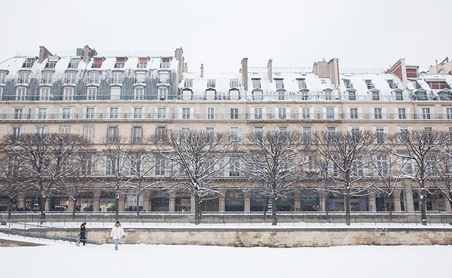 パリで大雪!子どもも大人も公園でスキーにソリ!?