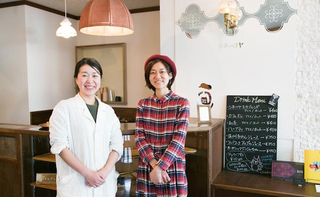 左から『チコパン×クゲヌマ』のアライ チヨコさん、『シネコヤ』の竹中 翔子さん