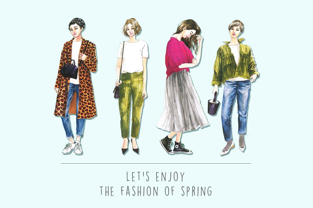 春の着こなしの参考に!きくちあつこさんのファッションコーデがかわいすぎる!