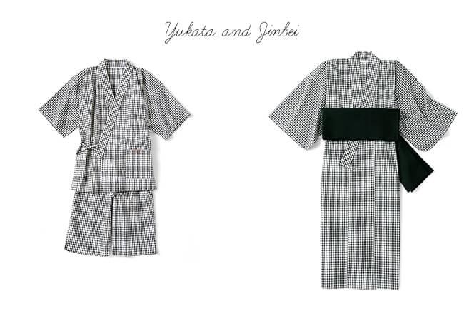 【Joël Robuchon & gelato pique】ギンガムチェック浴衣/HOMMEギンガムチェック甚平