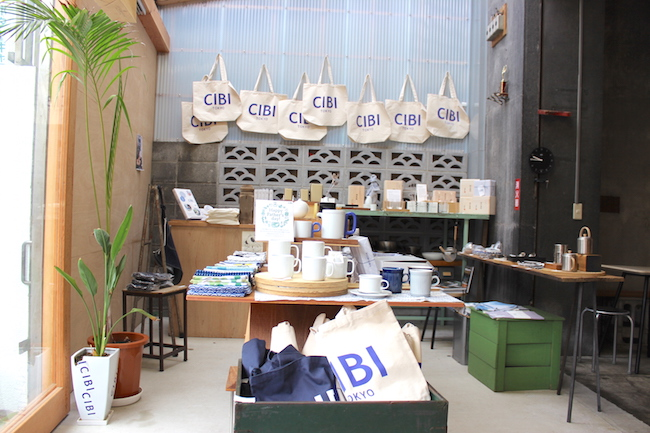千駄木『CIBI』のショップスペース