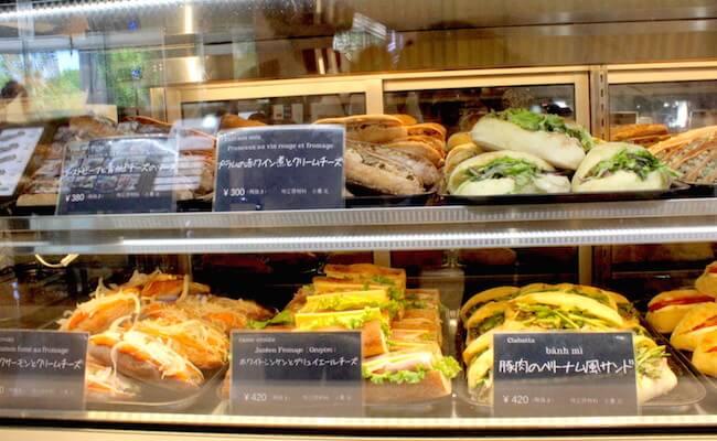 ル・プチメック日比谷のサンドイッチ