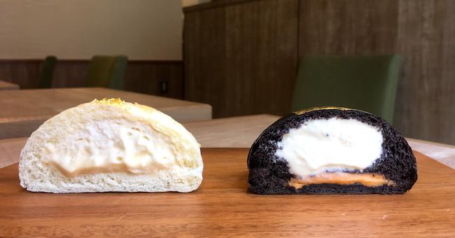 京都の『クリームパン専門店 キンイロ』のクリームパン