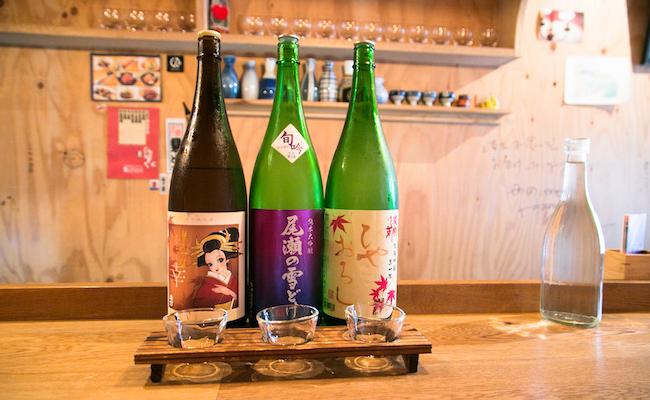 人形町『3bis(トワビス)』の利き酒3種