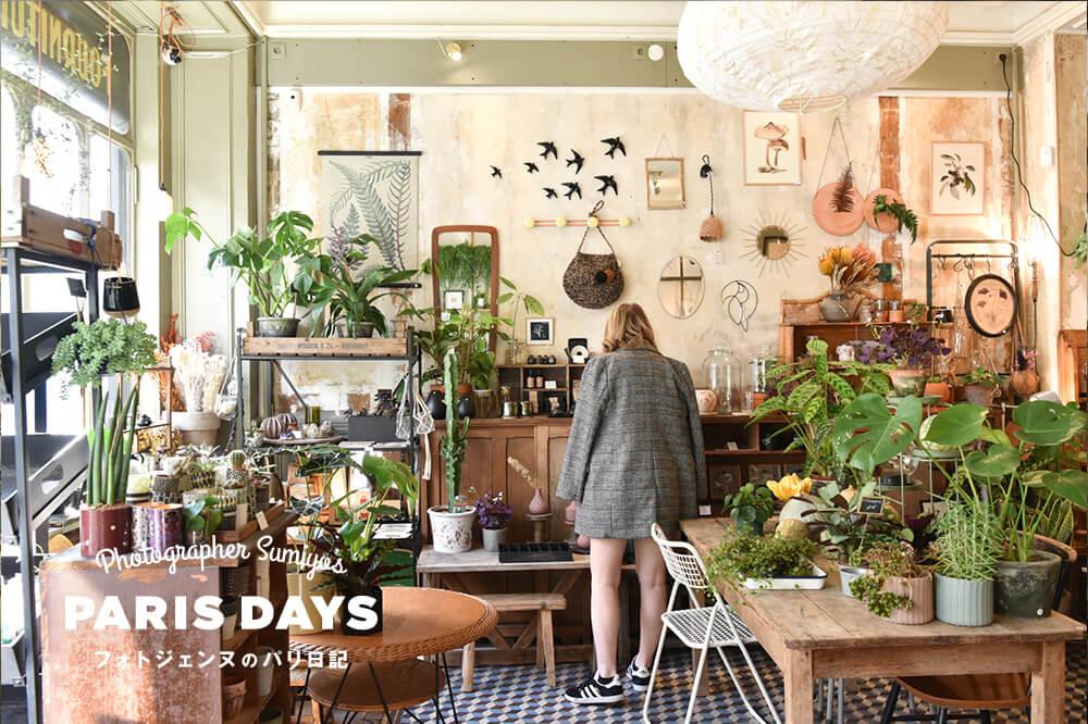 パリの人気インテリアショップ『レ・フルール』から学ぶグリーンのある暮らし