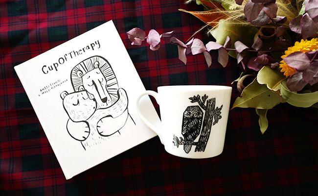 IDÉE/書籍『Cup of Therapy だいじょうぶ。』、blanco y negro マグカップ