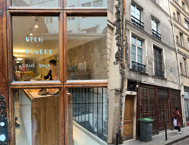 パリのパン屋『Circus Bakery』の外観