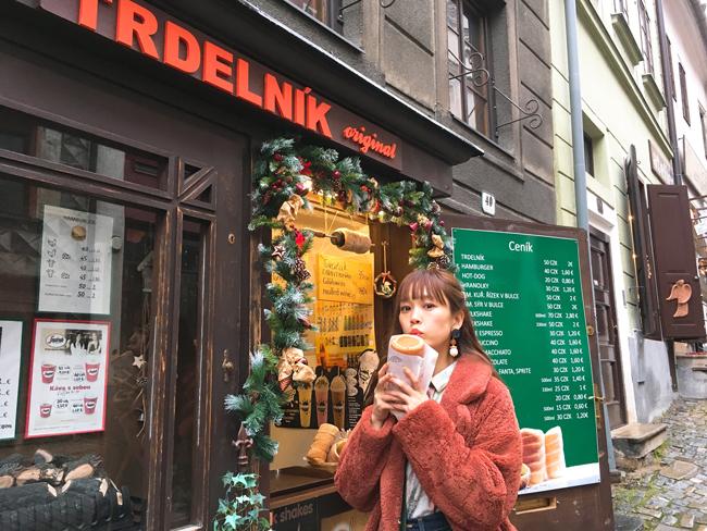 山野ゆりさんと、プラハのトゥルデルニーク屋さん